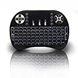 Backlit Mini Keyboard, 2017 New Model Globmall 2.4Ghz Portable Wireless Keyboard with Touchpad mouse, Rechargeable Battery for Raspberry Pi, Mac, Linux, IPTV, Android TV Box, Windows
