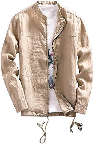 (ANMIDA)ジャケット 麻ジャケット シャツ感覚の薄手綿麻 ブルゾン トップス 大人 メンズ 男性用 春夏