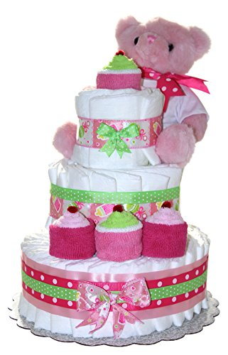 Tier Diaper Cake Decorated Washcloths product image