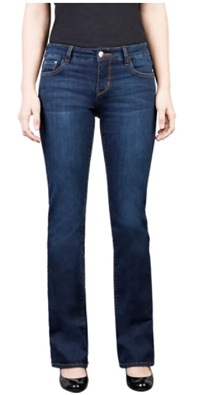 !iT Collective Womens 'Marty' Slim Bootcut Jeans (Deep Blue, 32)