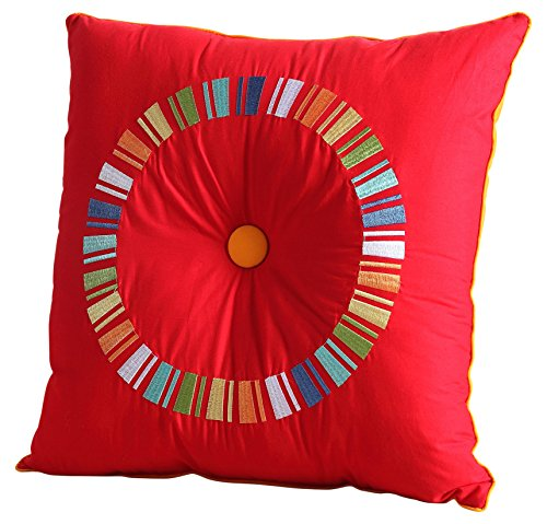 Fiesta Solid Color Sheet Set Decorative Pillow, Red