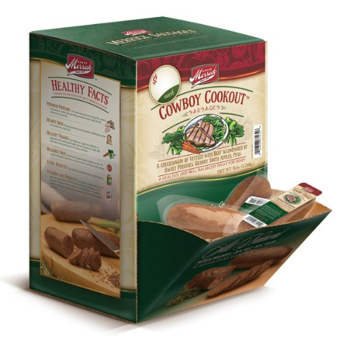 Merrick Cowboy Cookout Sausages for Dogs, (34 Count), My Pet Supplies