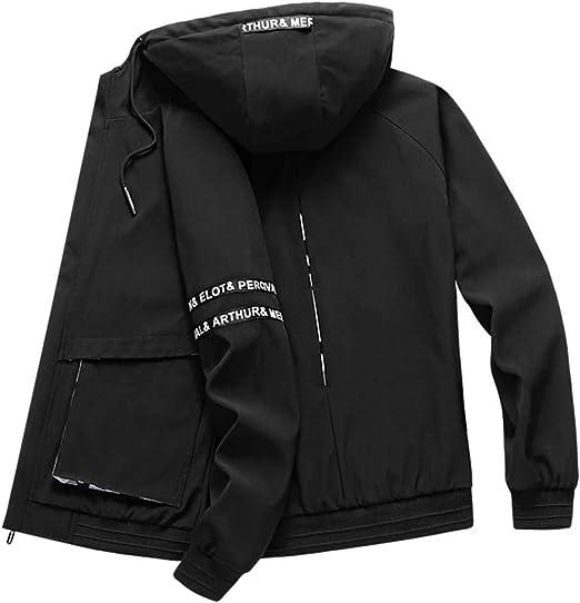 ジャケット メンズ コート 春秋 カジュアル アウター フード付き 防風 防寒 おしゃれ ブルゾン ジャンパー おおきいサイズ L~8XL