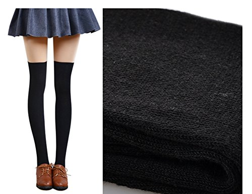 Velice Womens Winter Over the Knee Socks Thigh High Cotton Boot Socks 2 Pairs