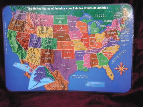 amazon com united states usa laminated placemat learn geography at mealtime home kitchen
