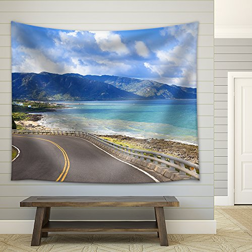 Coastline of Kenting National Park in Taiwan Fabric Wall Tapestry