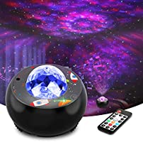 LED Galaxy Star Projector Light - Ocean Wave Night Lights for Bedroom, Room Decor and Party, with Remote Control, Music...
