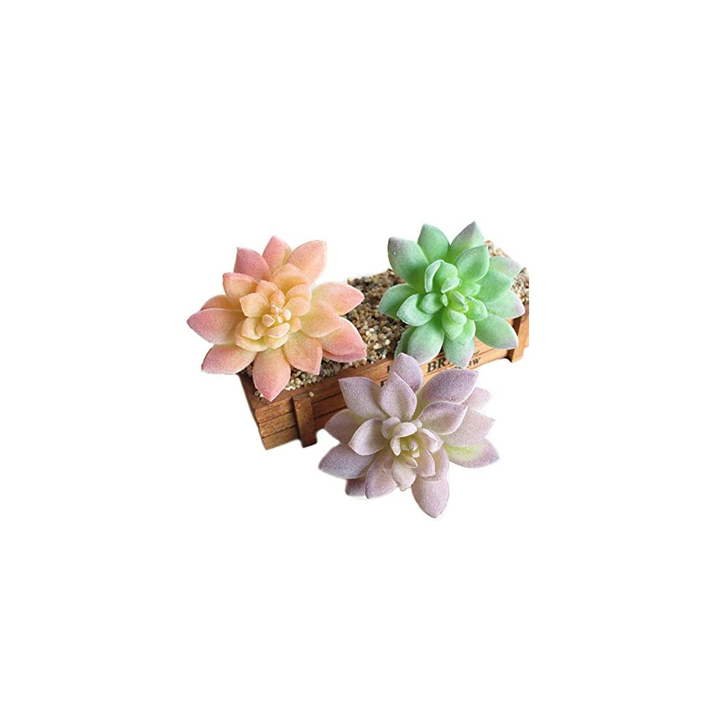 Artfen-Artificial-Succulent-3-Pack-Artificial-Vinyl-Succulent-Cactus-Plants-Artificial-Flower-Home-Hotel-Office-Wedding-Party-Garden-Craft-Art-Decor-Unpotted-Flowers-44-Diameter