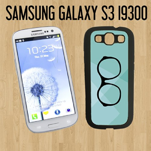 Vintage Hipster Eye Glass Custom made Case/Cover/skin FOR Samsung Galaxy S3 - Black - Rubber Case ( Ship From CA) + FREE Screen - Vintage Ebay Eyeglasses