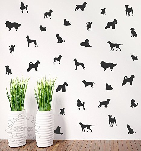 Superieur Dog Wall Decal / Doggie Decal / 36 Dogs Pattern Wall Decal / Kids Room Decal
