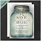 Personalized Carlson Craft Country Mason Jar - Save The Date Magnet Wedding Quantity 125