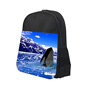 Polar Orca Killer Whale Rosie Parker Inc. TM PreSchool Childrens Backpack and Insulated Lunch Bag Set