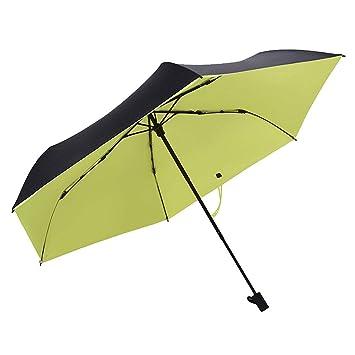 91df3ad2f Paraguas plegable automatico Mujer niño Hombre an- Sombrilla Tridimensional  Ultraligera - Protección UV plástica con Protector Solar de plástico Negro:  ...