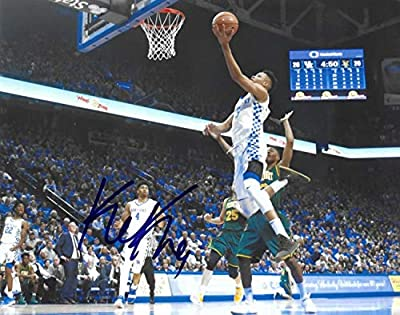 Kentucky Wildcats #5 Kevin Knox Autographed Signed 8x10 Basketball Photo Coa