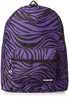 Yak Pak NYC Classic Back Pack, Purple Zebra, One Size