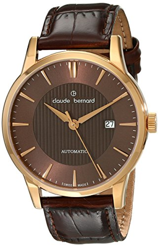 Claude Bernard Men's 80091 37R BRIR Classic Automatic Analog Display Swiss Automatic Brown Watch
