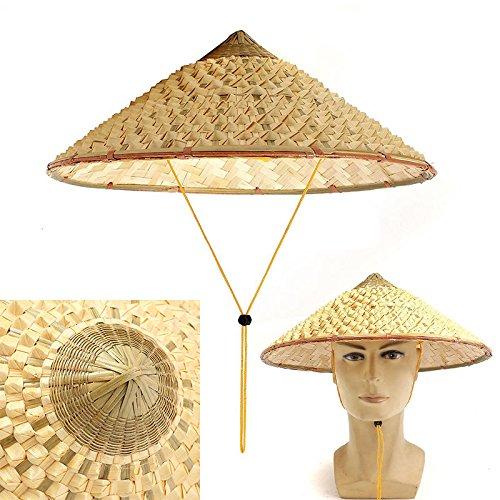 FidgetGear Vietnamese Japanese Straw Bamboo Cone Sun Hat Garden Farmer Fishing