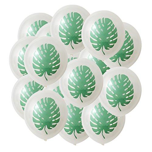 Homyl Pieces of 50 Hawaiian Palm Tree Leaves Latex Balloons Wedding Birthday Party Decor 12