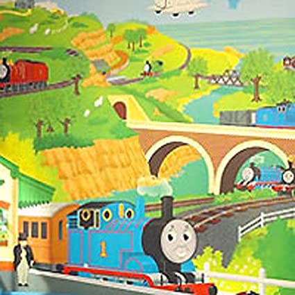 Amazoncom Thomas And Friends Giant Mural Tank Engine