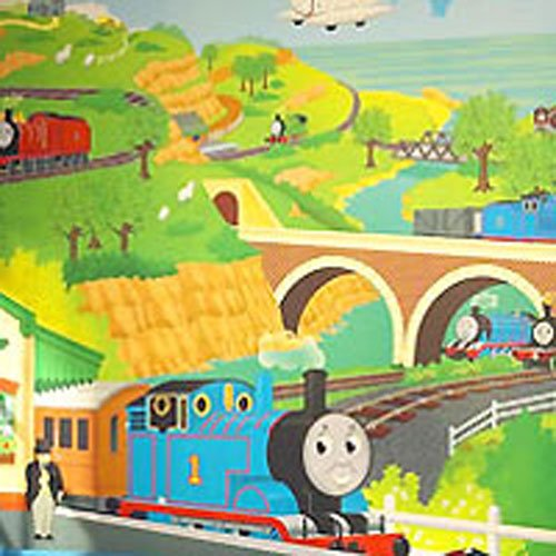 Thomas and Friends Giant Mural Tank Engine Wallpaper Accent