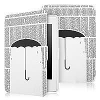 Capa Novo Kindle 8a Geração WB Auto Liga/Desliga - Ultra Leve Chuva de Letras