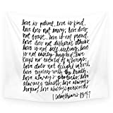 Society6 Love Is Patient, Love Is Kind Wall Tapestry Medium: 68'' x 80''