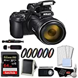 Nikon Coolpix P1000 Digital Camera Advanced Bundle w/ 64GB Memory Card and 6 Piece Filter Kit (International Model)
