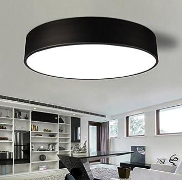 Awama Wohnzimmerlampe Deckenlampe Schwarz Led Rund Leuchten Badlampe