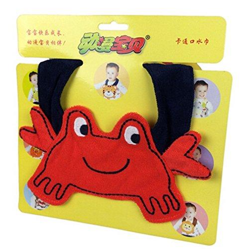 Crab Baby Bib (Jutao Stylish & Fashionable Cartoon Cotton Saliva Towel Baby Bibs Crab)