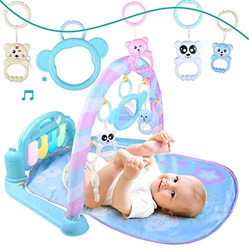 TTGE Alfombra Musical Gimnasia para bebés Alfombra de Juego de Musica Lavable Juguete de 0-1 años 46.5 * 9 * 38 cm,Blue
