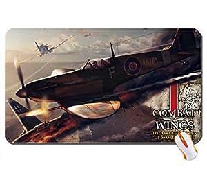aircraft shootdown wings combat wallpaper super big size mousepad Dimensions: 23.6 x 13.8 x 0.2(60x35x0.3cm)