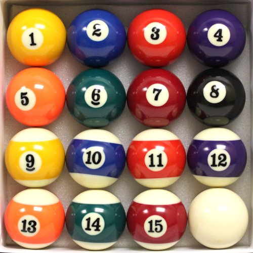 Felson Billiard Supply – Precision Engineered Billiard Balls – Set of 16 – Full Set Includes Eight Ball and White Cue Ball - Individual Pool Balls