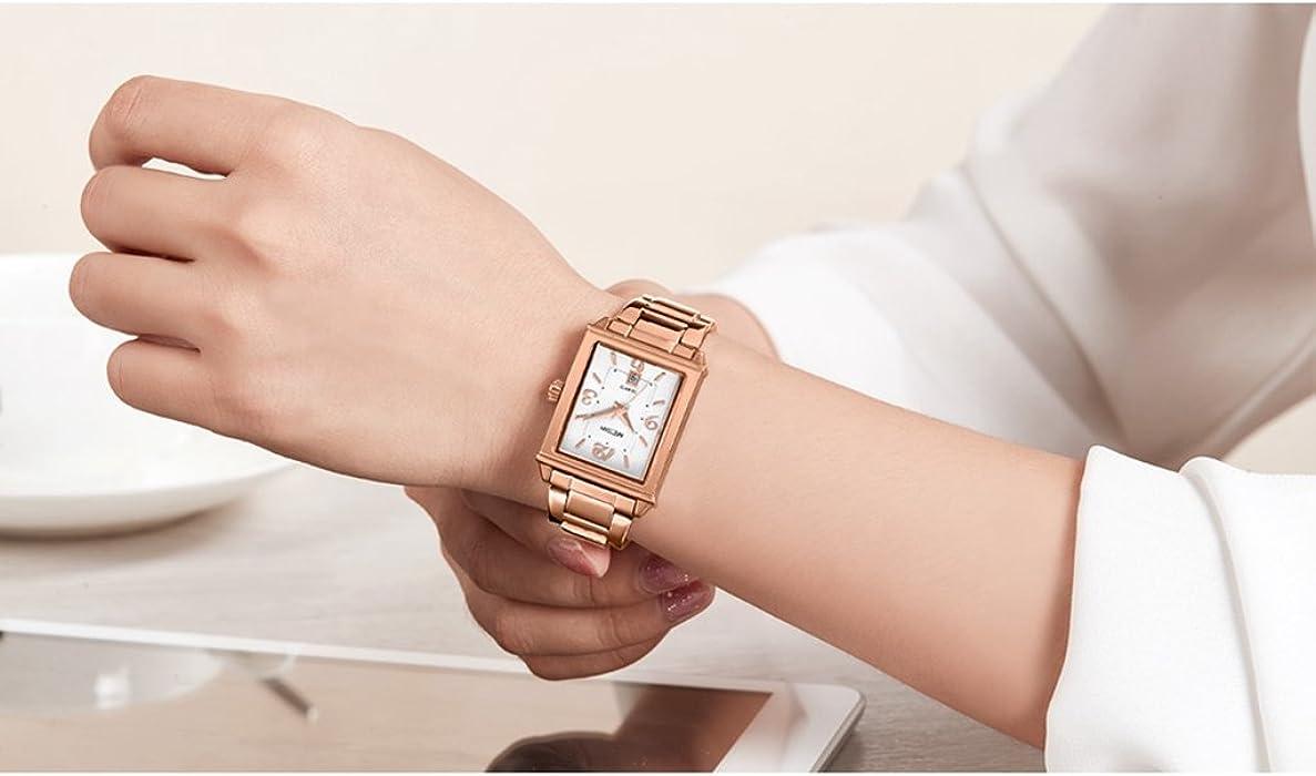513fed607dc7d ... Tayhot Womens Rectangle Rose Gold Watch