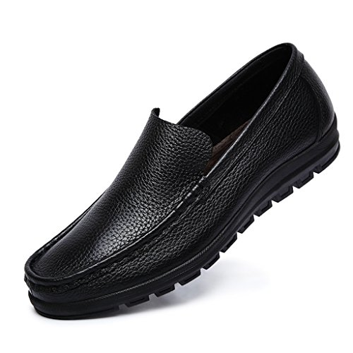 On Boat Class Racing Men's Leather Minitoo Shoe Black Slip FIxgRvn