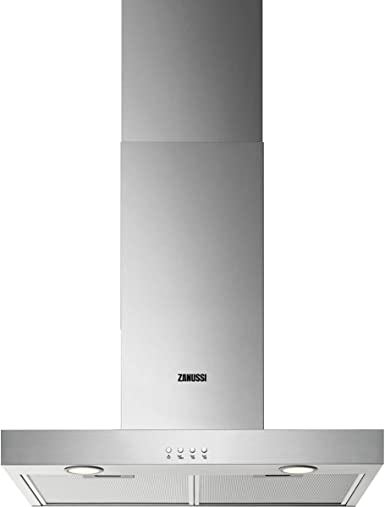 Zanussi ZHB62670XA Campana extractora de pared de 60 cm, 3 velocidades, Acero inoxidable, Nivel de ruido 68 dB(A), Salida 150 mm, Iluminación LED, Clase C, Inox: Amazon.es: Grandes electrodomésticos