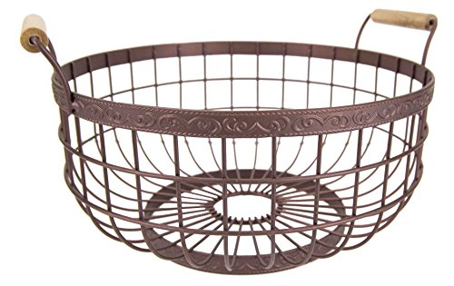 Garden Fruit Basket (Home Basics Amsterdam Collection Kitchen Storage Set, Bronze (Fruit Basket))