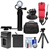 Intova Underwater LED Action Video Light with Camera Bracket Mount with AHDBT-401 Battery & Charger + Float Strap + Case + Tripod Kit for GoPro HERO4