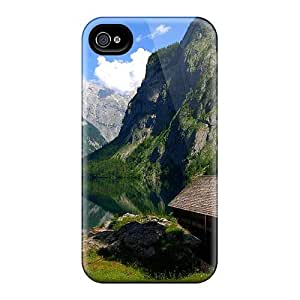 Abrahamcc Iphone 4/4s Hybrid Tpu Case Cover Silicon Bumper Boathouse On A Mountain Lake