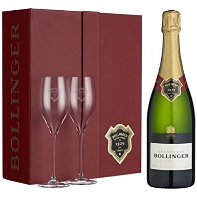 Bollinger Special Cuvee Champagne Gift Set with 2 Glasses Pinot Noir NV 75 cl: Amazon.co.uk: Grocery