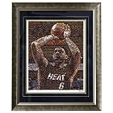 NBA Miami Heat LeBron James 16x20 Mosaic Framed Photo