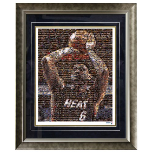 NBA Miami Heat LeBron James 16x20 Mosaic Framed Photo by Steiner Sports
