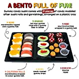 Raindrops Gummy Candy Sushi Bento Box with 6 Kinds