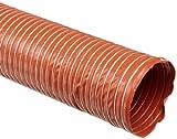 Heat-Flex BDS Fiberglass Duct Hose, Iron Oxide Red, 10'' ID, 12' Length