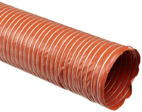 Flexible Duct Hose : Heat flex bds fiberglass duct hose iron oxide red quot id