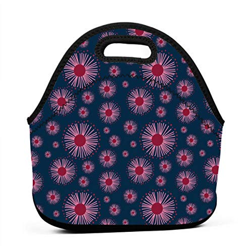 Australiana' Collection - Coordinating Pattern 3_4252 Waterproof Insulated Lunch Portable Carry Tote Picnic Storage Bag Lunch box Food Bag Gourmet Handbag For School -