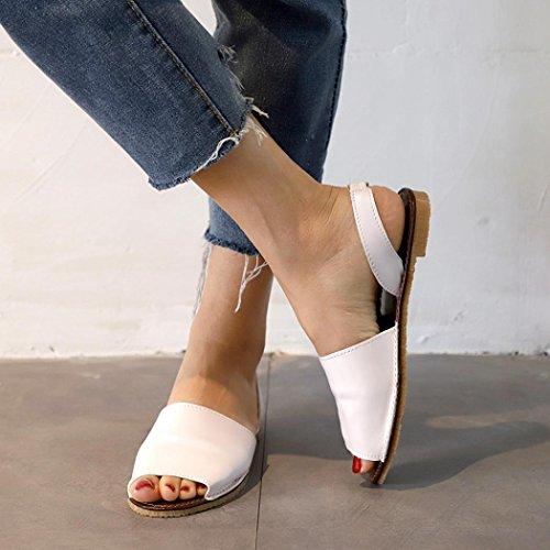 Chunky Sandales De Femme Poisson Vacances Dames Bouche Blanc Strass Espadrilles pour Sandales Sandales Summer Sandales Beautyjourney Romaines Talons Pq4dP