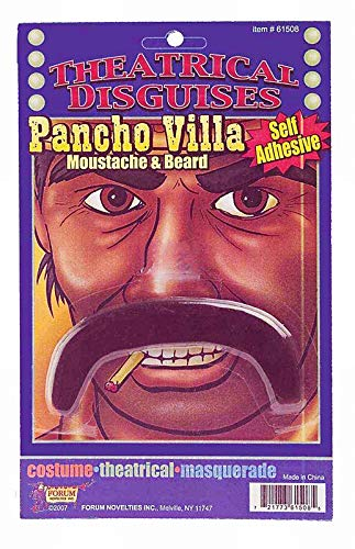 Pancho Villa Mustache (Forum Novelties Men's Moustache-Pancho Villa, Black,)