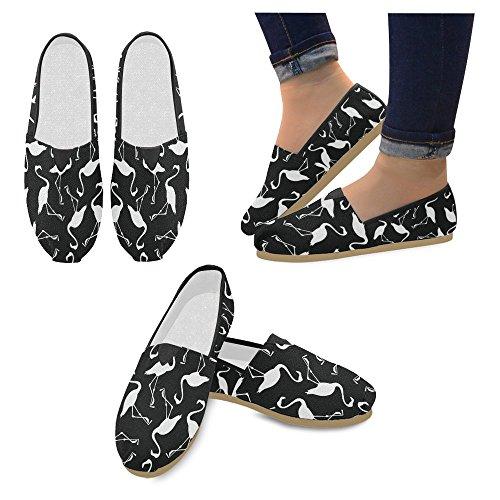 Mocassini Da Donna Di Interestprint Classico Su Tela Casual Slip On Scarpe Moda Sneakers Mary Jane Flat Flamingo Bird