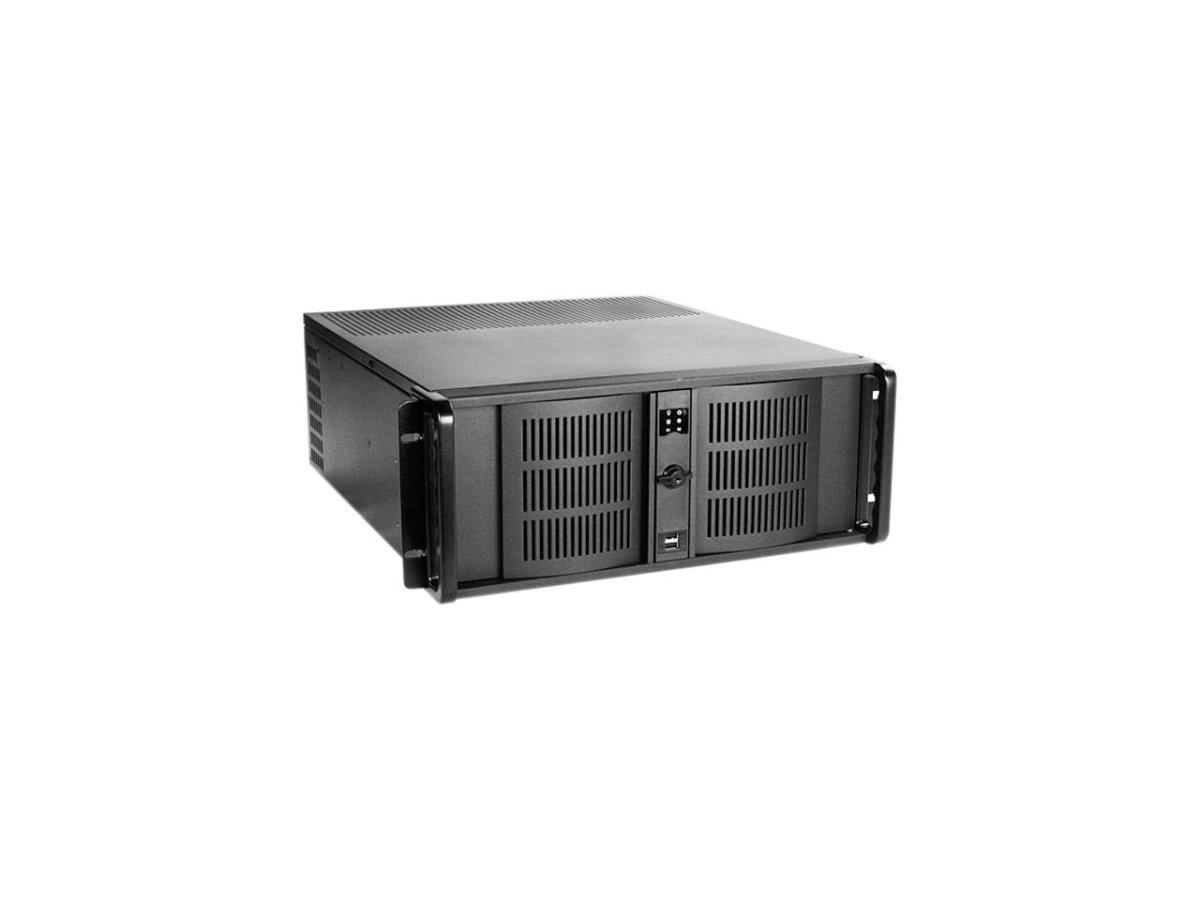 IStarUSA Case D-400-50R8PD2 4U Compact 120 80mm Fan USB2.0 500W RPS ATX Black