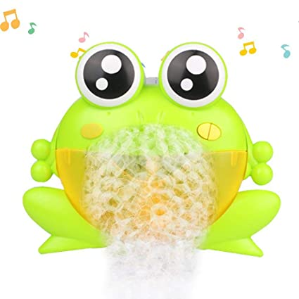 Classic Toys 100% Quality Baby Bath Toys Swim Water Bubble Bath Machine Large Automatic Frogs With Music Wash Cartoon Game Educational Bath Toys Durable In Use